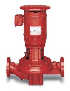 vertical inline fire pump