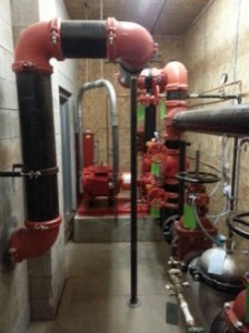 Peerless horizontal split-case fire pump install 2