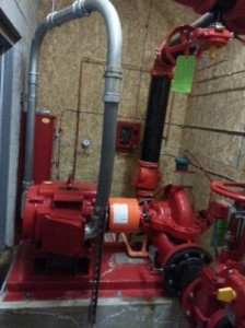 Peerless horizontal split-case fire pump install 5