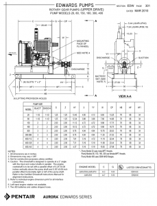 Edwards Pumps Diesel Drive Dimensions