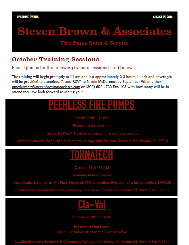 october training sessions