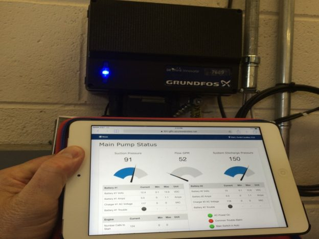FireConnect Cloud-based monitoring system on an iPad