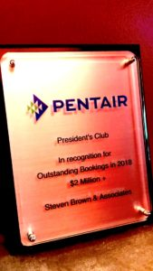 The Presidents Club Award from Pentair